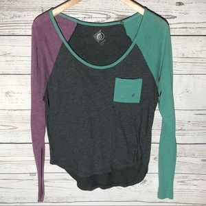 Color block Volcom raglan tee